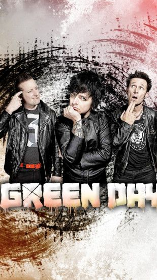 Preview wallpaper green day, band, graphics, letters, finger 1440x2560