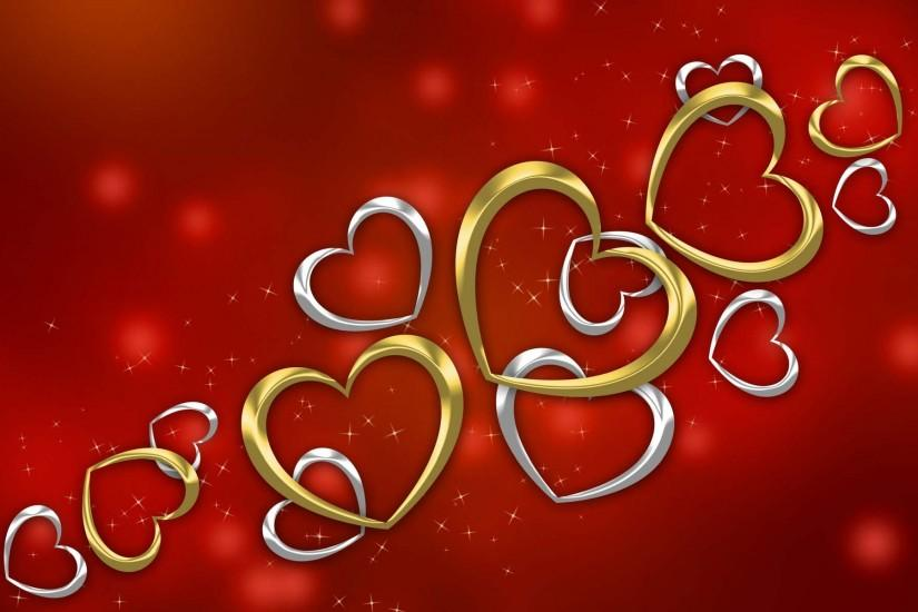 Love Gold And Silver Hearts Wallpaper 9176 - Cool PC Wallpapers