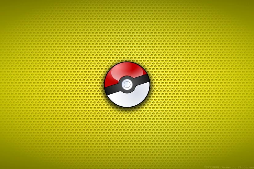 Download Wallpaper red, pokeball, pokebol, white, yellow background, ball,  pokemon, section разное Resolution 1920x1200