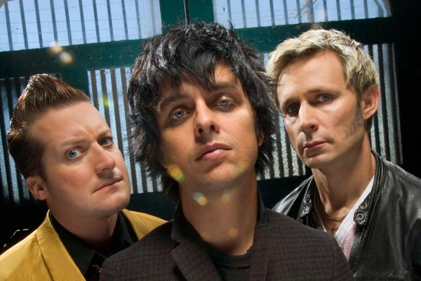 Preview wallpaper green day, members, faces, look, jackets 1920x1080