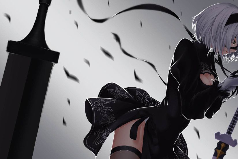 Nier Automata 2B 1920x1080 wallpaper