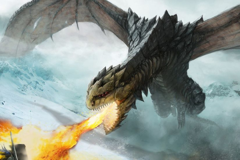 Fire breathing dragon wallpaper 1920x1080 jpg
