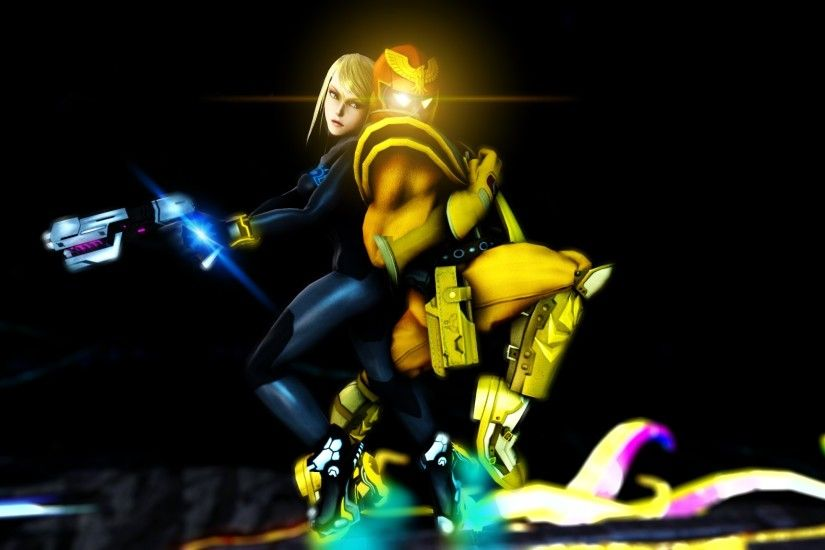 ... Zero Suit Samus and Captain Falcon by Gmoder3000
