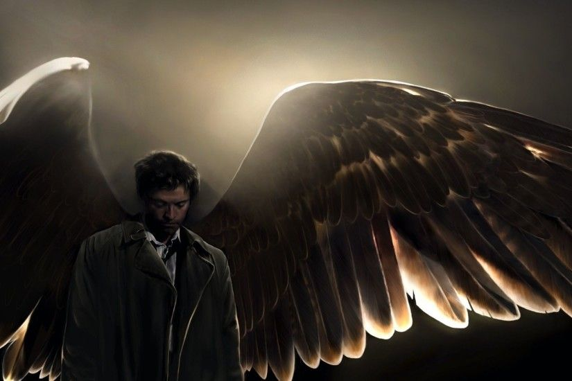 Castiel Supernatural Iphone HD Wallpaper.
