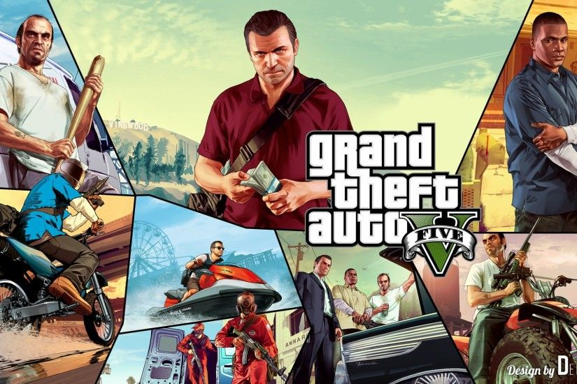 Heroes of GTA 5 HD Wallpaper