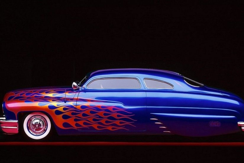 Mercury lowrider retro classic fire custom hot rod rods wallpaper |  1920x1080 | 84000 | WallpaperUP