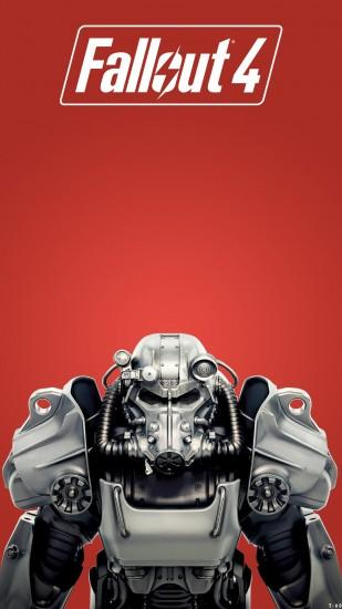 Fallout 4 Mobile Wallpaper RED