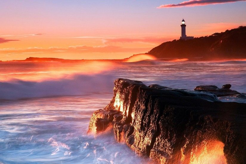 Lighthouse Sunset Wallpaper : Get Free top quality Lighthouse Sunset  Wallpaper for your desktop PC background