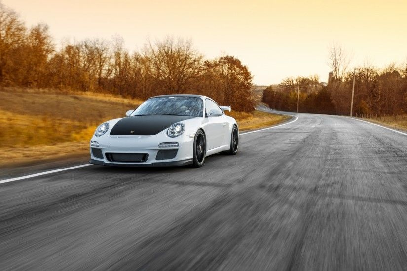 Preview wallpaper porsche, 911, gt3, road, motion, speed 3840x2160