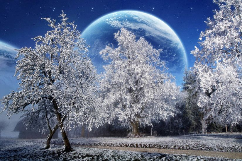Free Download Winter Scenery PowerPoint Backgrounds | PowerPoint E ..