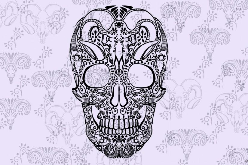 artwork, Skull, Sugar Skull Wallpaper HD