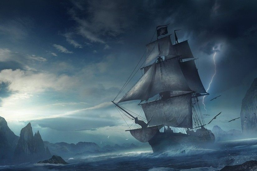 Pirate Ship HD Wallpapers Backgrounds Wallpaper