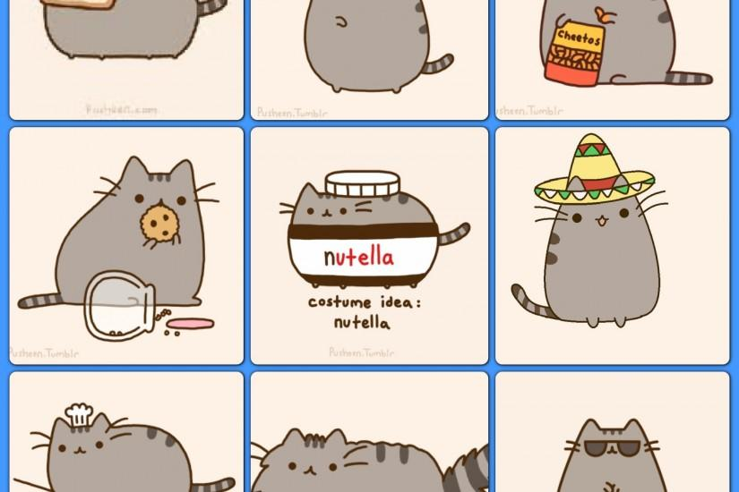 pusheen wallpaper 2048x2048 for android tablet