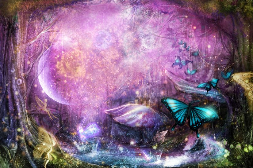 Enchanted Magical Forest Fairy Wallpaper