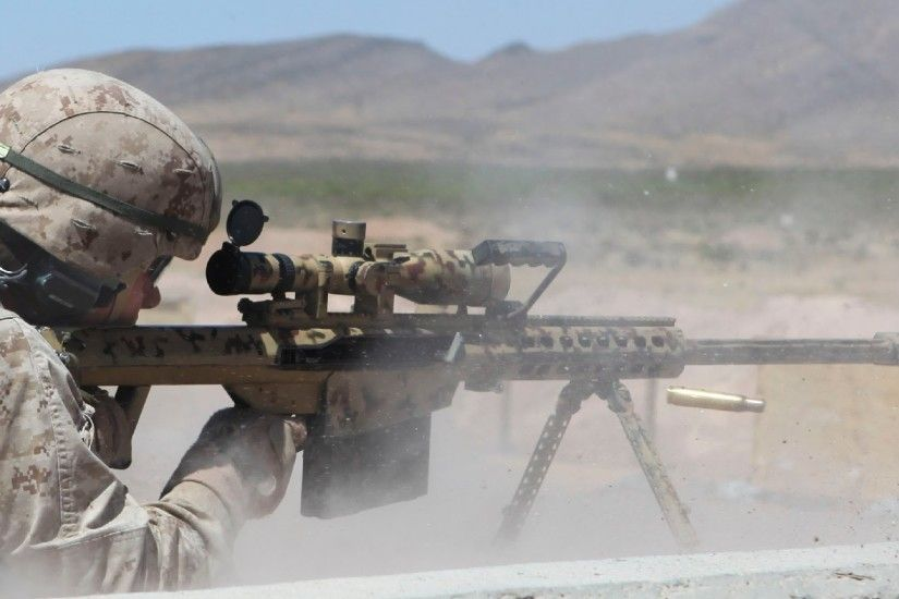 US Snipers Shooting with the Ultra Powerful M107 .50 Cal. Sniper Rifle -  YouTube