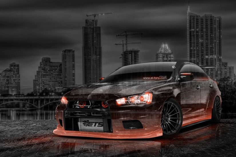 mitsubishi lancer evolution and subaru impreza sti wallpaper .