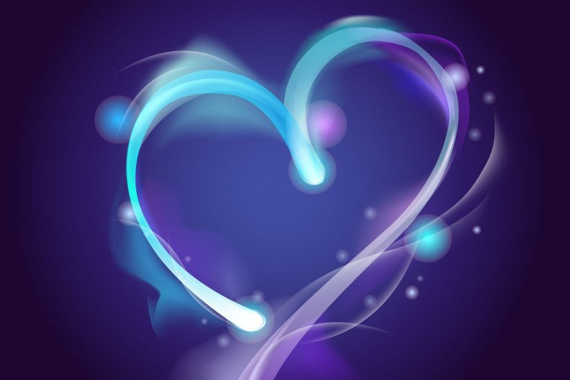 Blue and Purple Hearts - Find more Stunning background images for video at  backgroundimages.