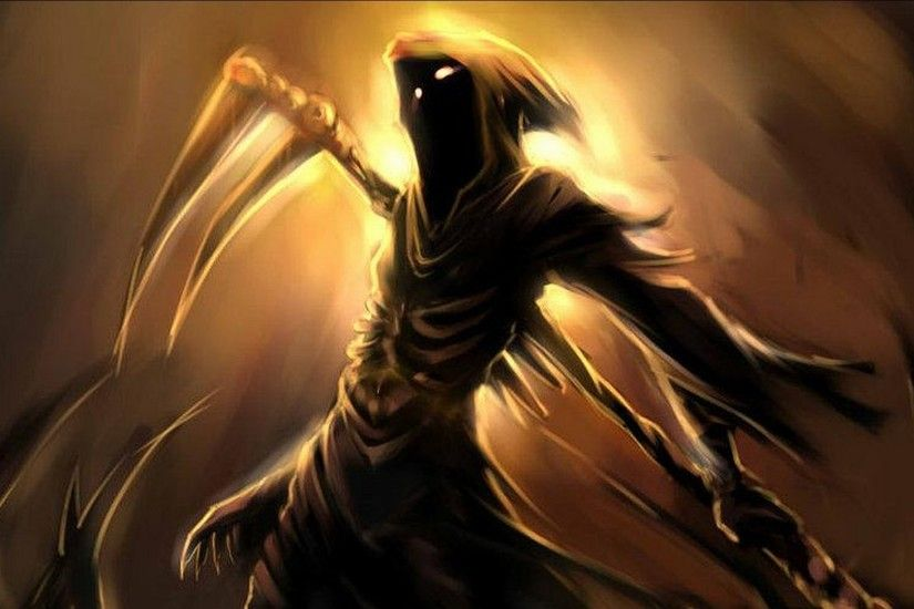 Dark - Grim Reaper Warrior Wallpaper