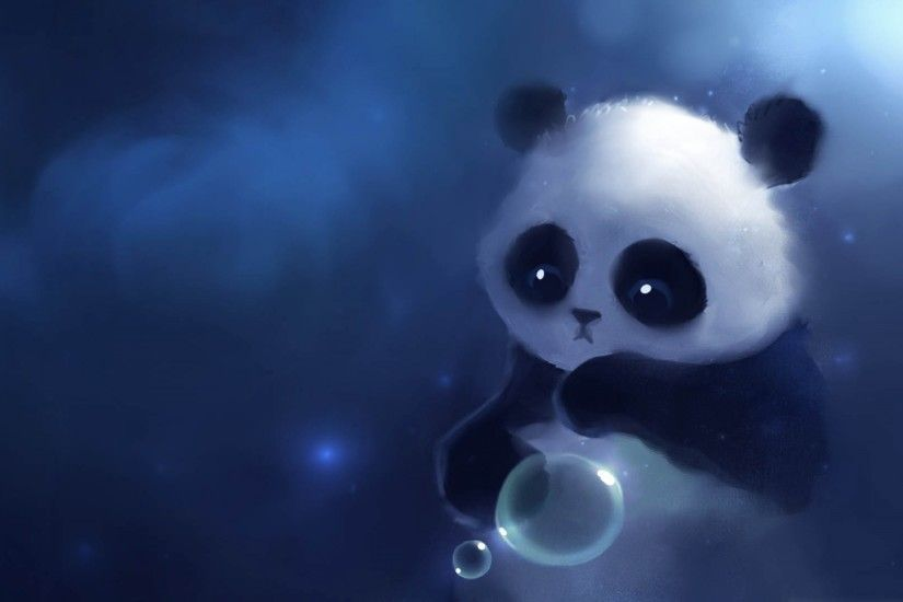 2880x1800 Sad Cute Panda Cartoon Wallpaper