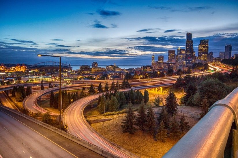 Wallpaper: Seattle Skyline. Ultra HD 4K 3840x2160