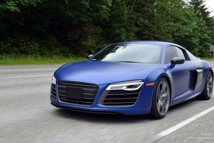 HD Car Wallpapers – Blue Audi R8