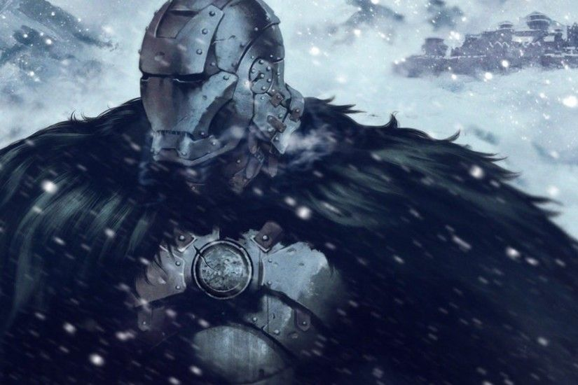 General 1920x1080 Game of Thrones Iron Man crossover snow House Stark  fantasy art
