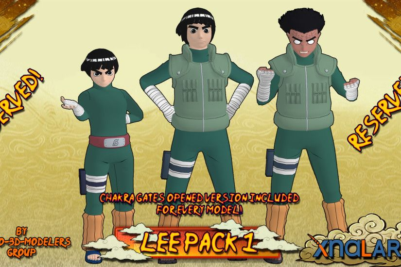 ... Naruto - Rock Lee PACK 1 FOR XPS by ASideOfChidori