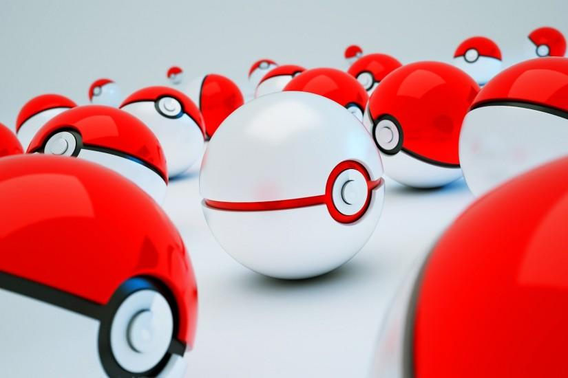 [Art] Not applying for a job, but made some 3D pokeballs anyway (1920x1080)  ...