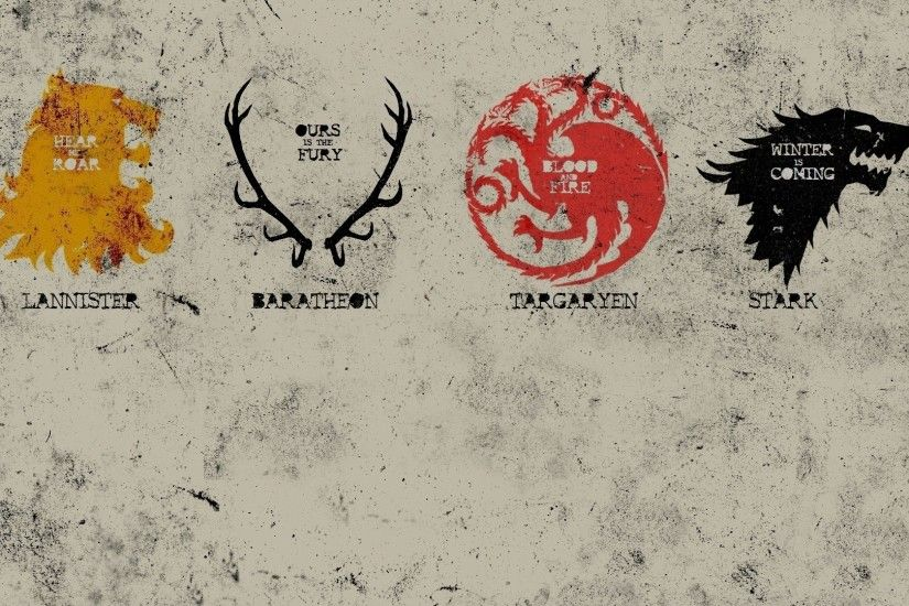 Game Of Thrones, A Song Of Ice And Fire, Sigils, Poster .