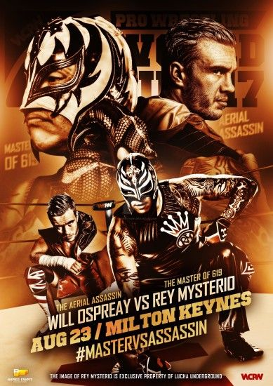 ... WCPW -Rey Mysterio vs Will Ospreay Official poster by Ahmed-Fahmy