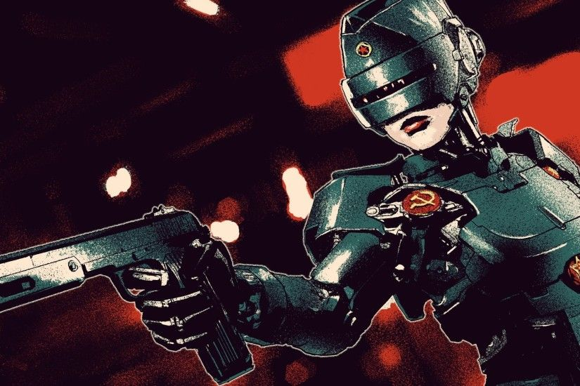 robocop robot girl gun ussr fan art soviet union helmet fan art