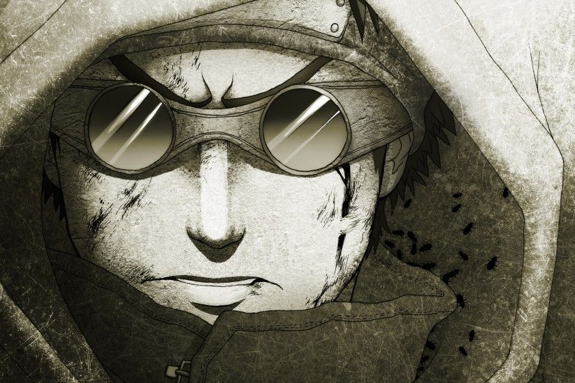 Aburame Shino Anime Boys Artwork Characters Faces Frown Goggles Hooded  Insects Monochrome Naruto Shippuden