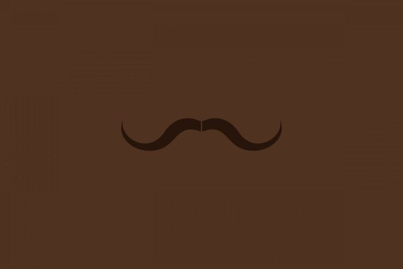 Artwork-brown-minimalistic-mustache-wallpaper-hd