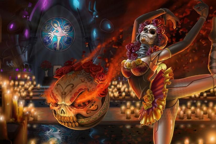 Sugar Skull Orianna Skin wallpaper