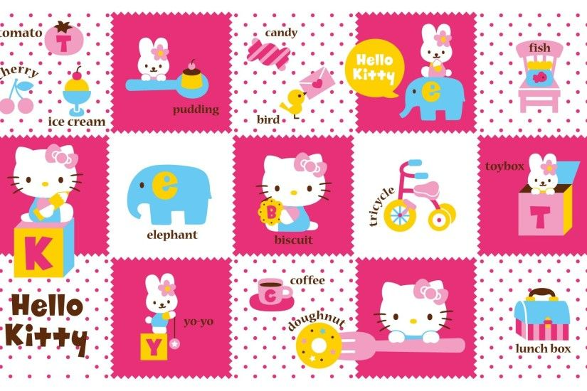 kitty hello bears teddy white wallpaper pink | ololoshenka | Pinterest |  White wallpaper