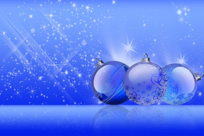 blue christmas balls background #11752
