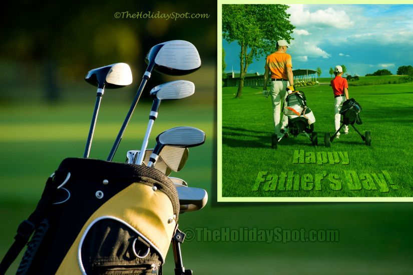 Happy Father's Day Wallpaper themed with Golf ...