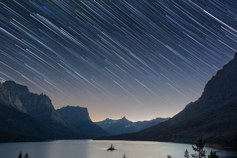 star trail pictures for desktop - star trail category