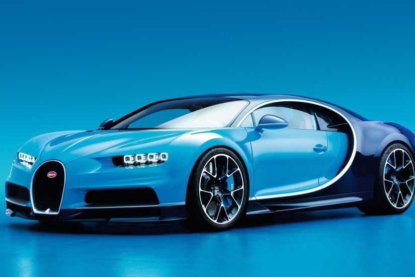 Bugatti, Bugatti Chiron, Car, Blue Cars, Blue Background Wallpapers HD /  Desktop and Mobile Backgrounds