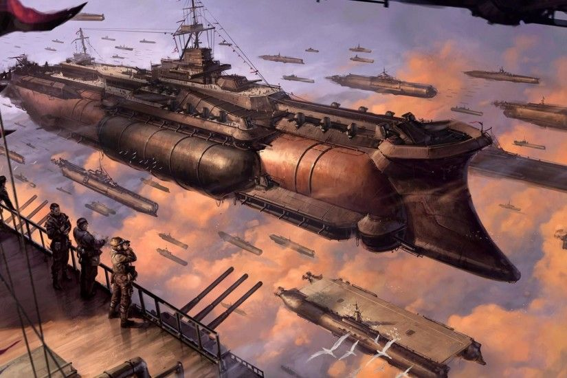Steampunk Girl Wallpaper | Steampunk spaceships wallpaper - Fantasy  wallpapers - #2787