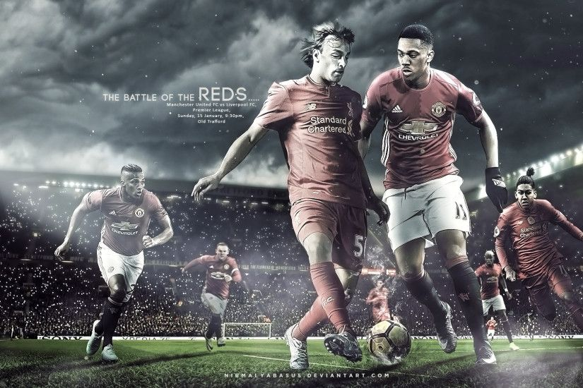 ... Manchester United vs Liverpool :Matchday Wallpaper by nirmalyabasu5
