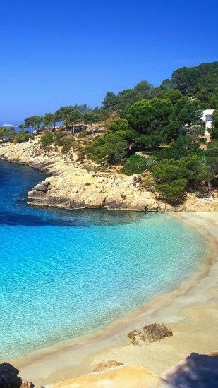 Android wallpaper download Beautiful Places Ibiza Beach