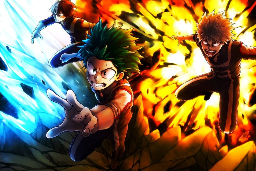 A bag of Boku No Hero Academia wallpapers.
