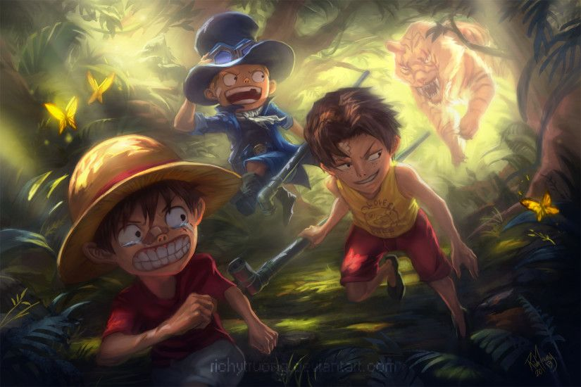 Luffy, Ace and Sabo Full HD Wallpaper and Background | 1920x1280 .