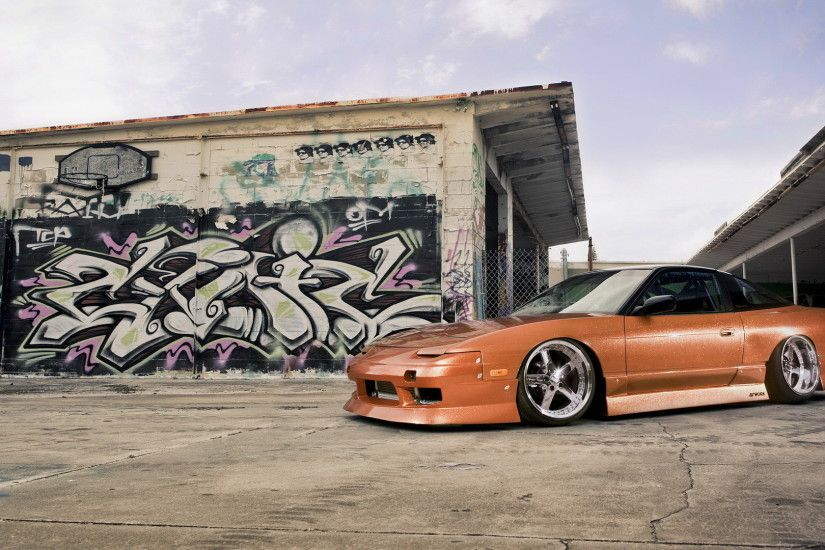 ... Wallpapers Nissan 240SX Stance White Cars Front ...