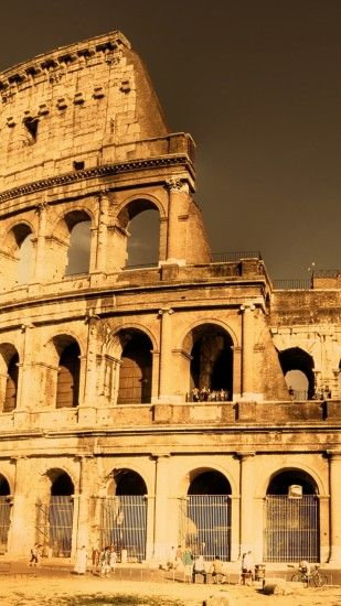 1080x1920 Wallpaper city, colosseum, ancient rome, ancient, fabulous view