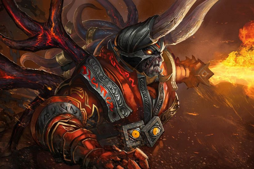 Download now full hd wallpaper doom hell art demon fire dota 2 ...