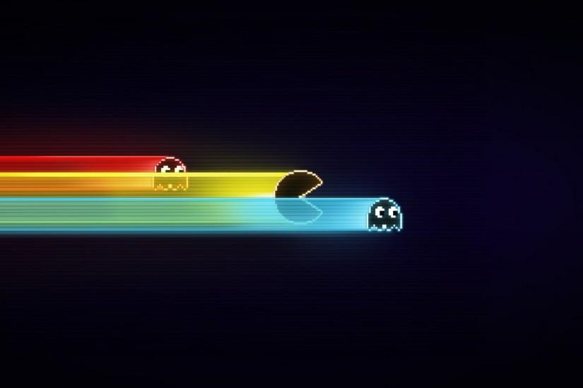 Preview wallpaper pacman, game, graphics, speed, harassment 1920x1080