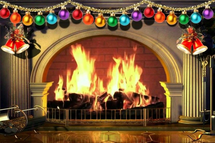 Virtual Christmas Fireplace - Free background video 1080p HD 15 minute loop  - YouTube
