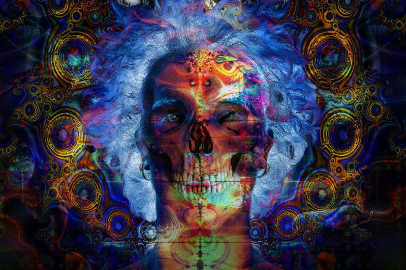 Psychedelic Skull Background